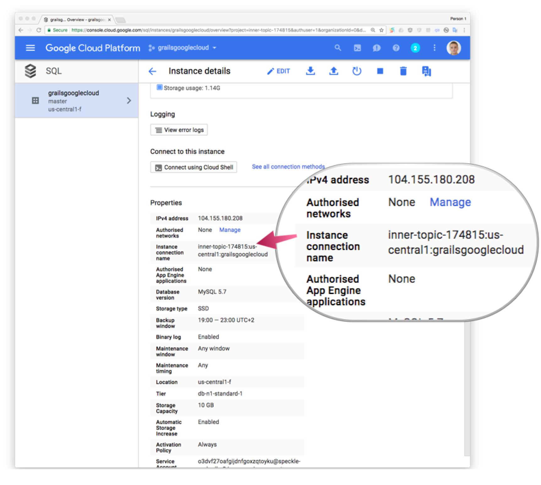 Deploy a Grails app to Google Cloud