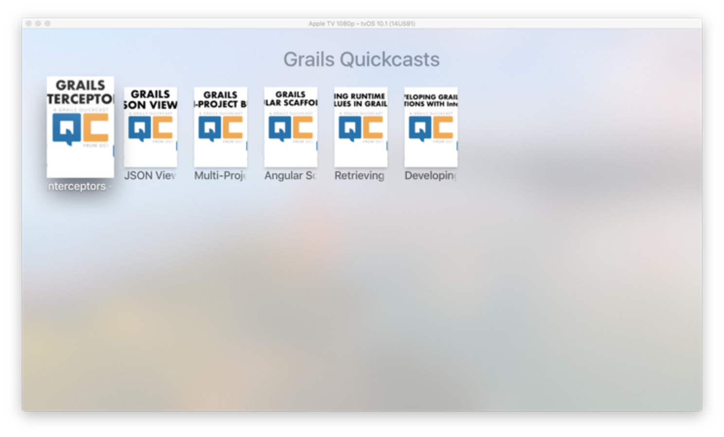 Build a TVML App with Grails | Grails Guides | Grails Framework