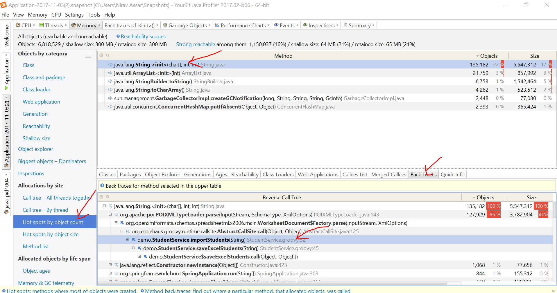 Grails YourKit Profiling | Grails Guides | Grails Framework