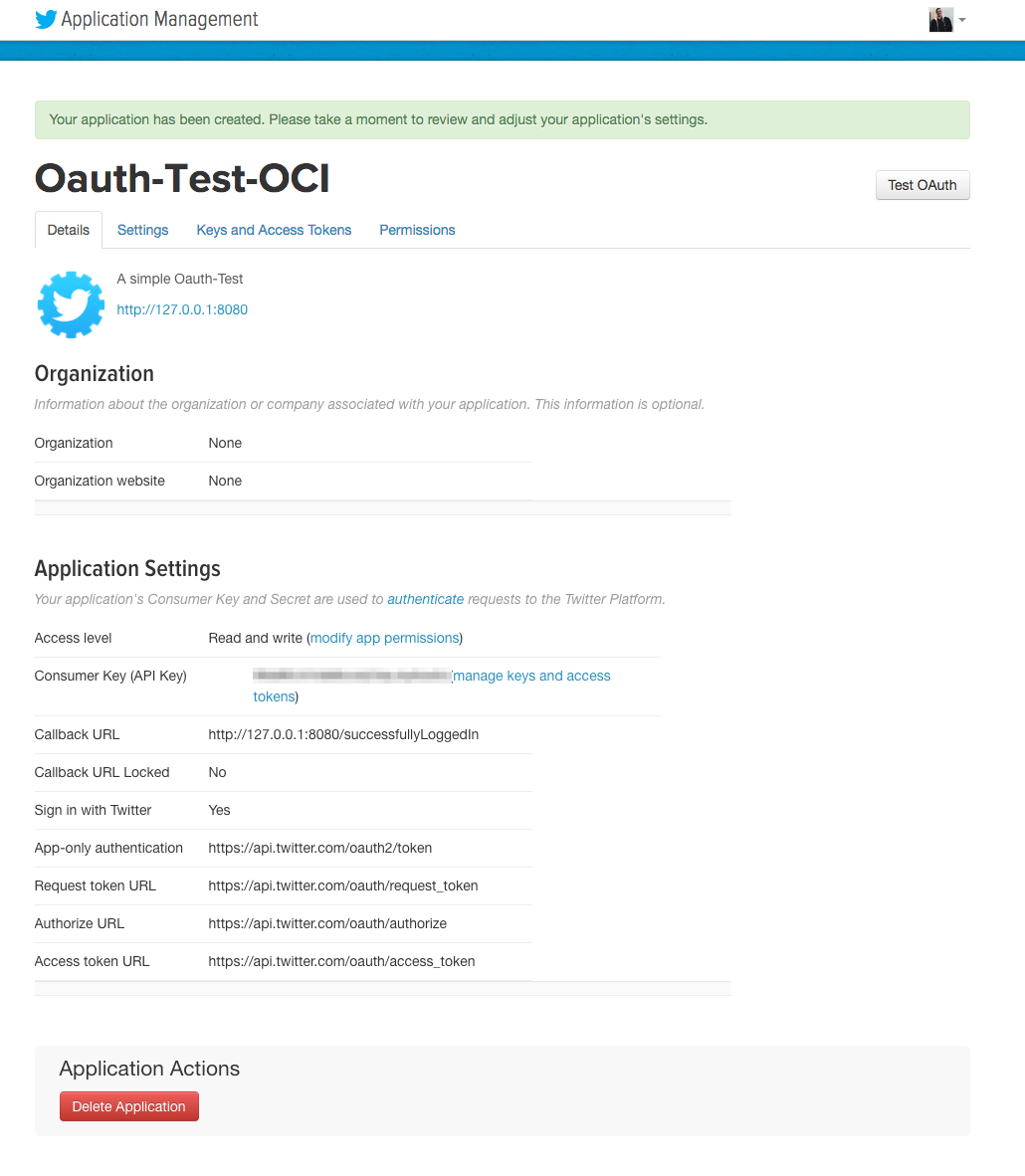 Twitter OAuth with Grails 3 and Spring Security REST